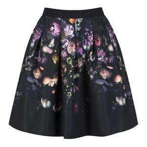 New Ted Baker Shadow Flora Deniva A-Line Skirt